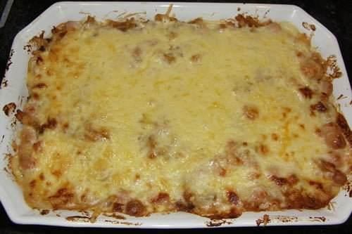 Lasagnette med lækker bechamelsauce som far laver den