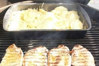 Flødekartofler på Weber grill
